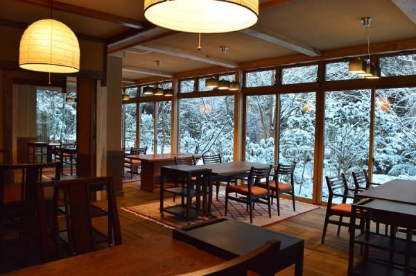 雪景色朝食